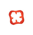 fresh red bell pepper slice icon paprika vegetable vector image
