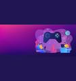gaming disorder concept banner header vector image