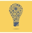 Gears icon form the shape of light bulbs concept vector image vector image