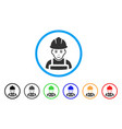 glad worker rounded icon vector image