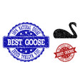 goose grunge icon and stamps vector image vector image