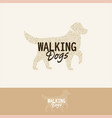 halftone dog silhouette walking dogs logo vector image