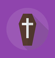 Halloween Flat Icon Coffin vector image
