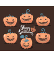 halloween of collection decorative orange pu vector image