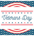happy veterans day hand drawing letters american vector image vector image