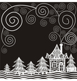 House pattern background vector image vector image