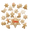 Huge collection of Christmas gingerbread vector image vector image