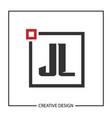 initial jl letter logo template design vector image vector image