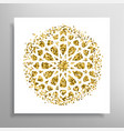 islamic golden pattern vector image vector image