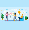 it project planning trendy flat concept vector image