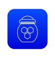 jar of honey icon blue vector image vector image