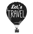 let s Travel Isolated Hot air balloon in the sky vector image