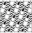lipstick sticker set on pop art zig zag linear vector image