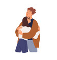 love couple man and woman hugging girlfriend vector image vector image