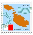 mail to-from Malta vector image