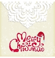 Merry christmas snowflake background vector image