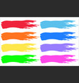 multicolored rainbow color brushstrokes prints vector image vector image
