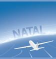 natal flight destination vector image vector image