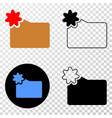 new folder eps icon with contour version vector image vector image