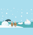 north pole artic background vector image vector image