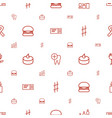 one icons pattern seamless white background vector image vector image