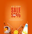 orange flyer for autumn sale vector image vector image