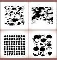 paint splashes set black paint vector image vector image