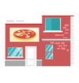 pizzeria restaurant cartoon vector image vector image