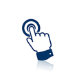 Pointing finger icon vector image vector image
