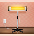 realistic heater waves composition vector image vector image