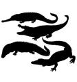 Reptile Silhouette vector image vector image
