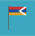 republic of artsakh flag icon in flat design vector image