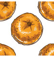 ripe mandarin or tangerine clementine seamless vector image vector image