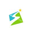 road abstract star logo vector image vector image