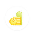 salary raise icon vector image