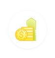salary raise icon vector image vector image