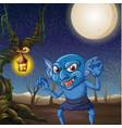 scary goblin at night scene vector image