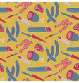 Seamless meat pattern on yellow