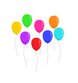 set fly flat colors ballons isolated on white vector image