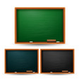 Set of colored blackboard on white background