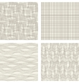 set seamless patterns backgrounds vector image vector image