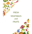 set watercolor vegetables and fruits vector image