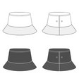 set with a panama hat vector image vector image