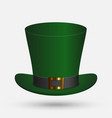 st patrick green hat isolated vector image