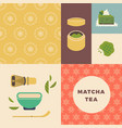 tea party or tea ceremony layout with floral vector image