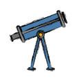 telescope icon image vector image vector image