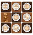 Tic-Tac-Toe of latte art vector image vector image