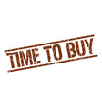 time to buy stamp vector image vector image