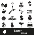 Various black Easter icons set eps10