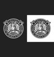 viking vintage monochrome round badge vector image vector image